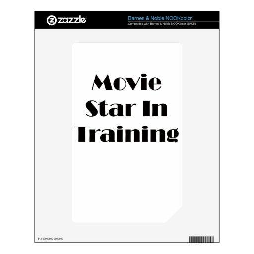 Estrella de cine en el entrenamiento NOOK color calcomanía
