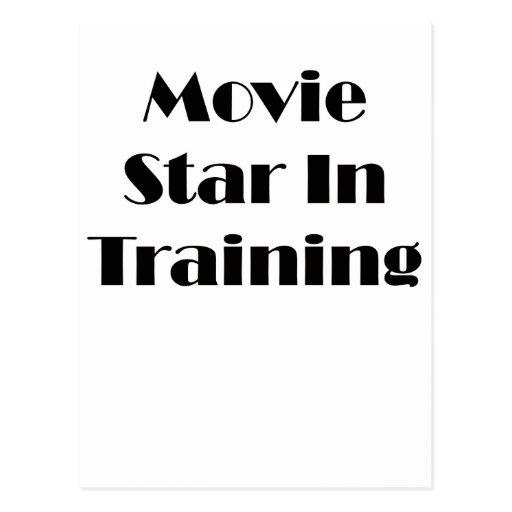 Estrella de cine en el entrenamiento tarjetas postales