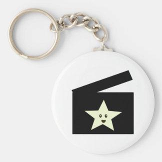 Estrella de cine llavero redondo tipo pin