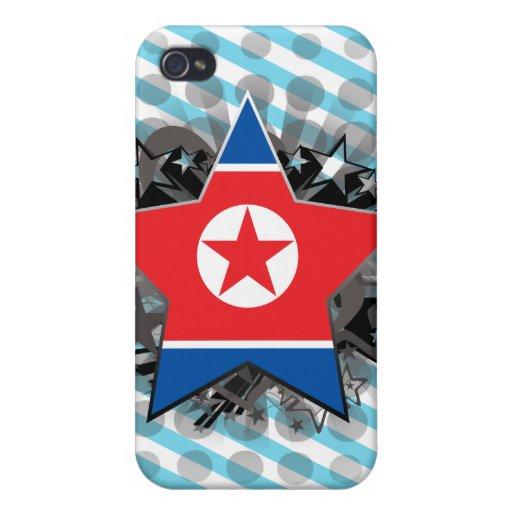 Estrella de Corea del Norte iPhone 4 Funda