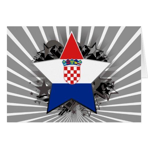Estrella de Croacia Tarjeta De Felicitación