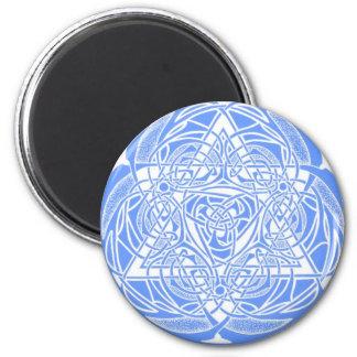 Estrella de David adornada Imán Redondo 5 Cm