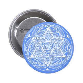 Estrella de David adornada Pin Redondo 5 Cm