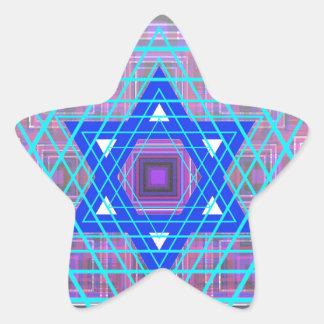 Estrella de David atada con alambre Pegatina En Forma De Estrella