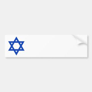 Estrella de David azul Pegatina De Parachoque