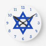Estrella de David azul Reloj
