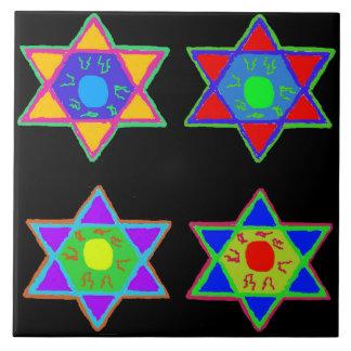 Estrella de David Azulejo Cerámica