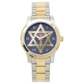 Estrella de David con el reloj cruzado