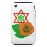 Estrella de David con el rosa Tough iPhone 3 Cobertura