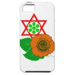 Estrella de David con el rosa iPhone 5 Case-Mate Cárcasa