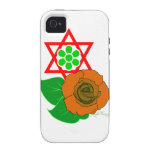 Estrella de David con el rosa Vibe iPhone 4 Funda