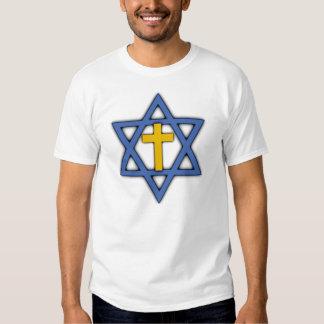 Estrella de David con la cruz Remera