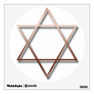 Estrella de David de cobre con la sombra - Vinilo Decorativo