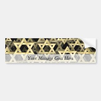 Estrella de David de oro Pegatina De Parachoque