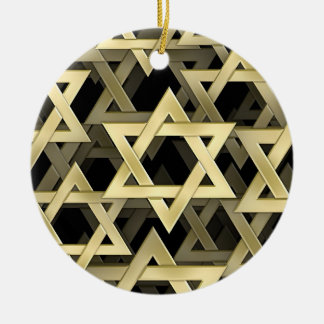 Estrella de David de oro Adornos
