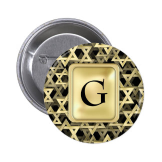 Estrella de David de oro Pin