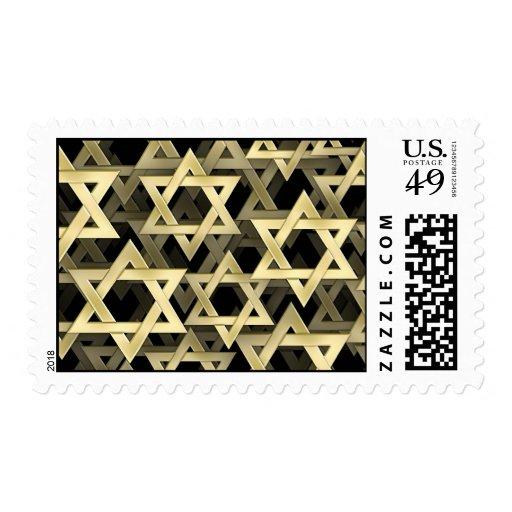 Estrella de David de oro Sellos Postales
