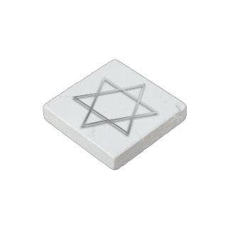 Estrella de David de plata - imán de piedra