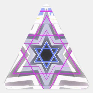 Estrella de David decorativa Pegatina Triangular