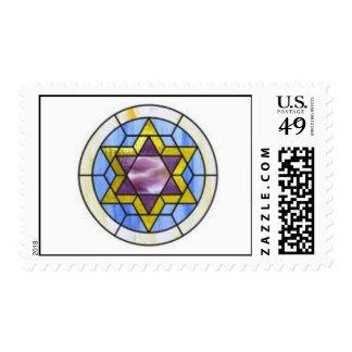 Estrella de David en vitral Envio