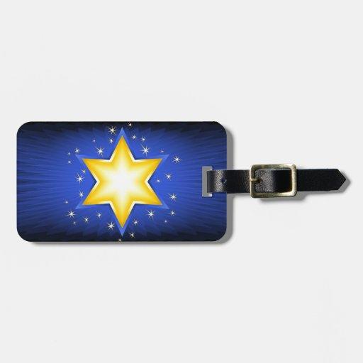 Estrella de David Etiqueta De Equipaje