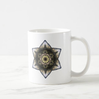 Estrella de David floral Taza