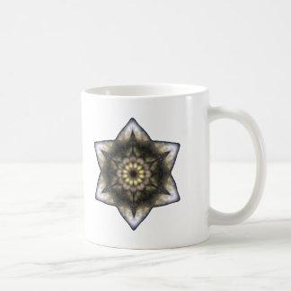 Estrella de David floral Taza Básica Blanca