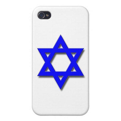 Estrella de David iPhone 4 Funda