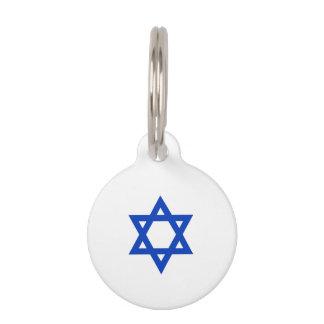 Estrella de David israelí Placas De Mascota