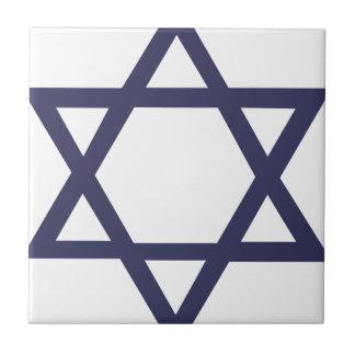 Estrella de David judía Azulejo Cerámica
