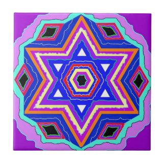 Estrella de David judía Tejas Cerámicas