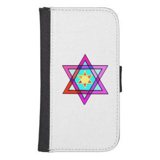 Estrella de David judía Cartera Para Galaxy S4