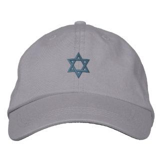 Estrella de David judía Gorras De Beisbol Bordadas