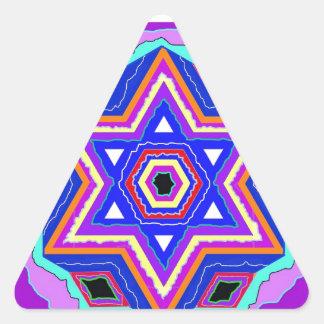 Estrella de David judía Pegatinas De Trianguladas