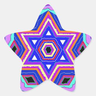 Estrella de David judía Pegatina En Forma De Estrella