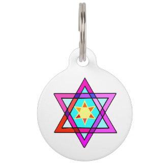 Estrella de David judía Placas Para Mascotas