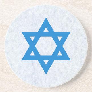 Estrella de David judía Posavasos De Arenisca