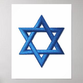 Estrella de David judía Póster