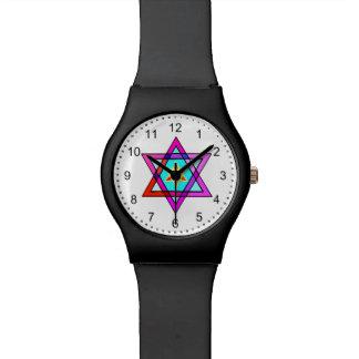 Estrella de David judía Relojes