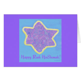 Estrella de David judía, Rosh feliz HaShonah Tarjeta De Felicitación