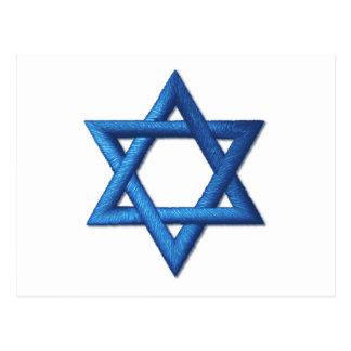 Estrella de David judía Tarjetas Postales