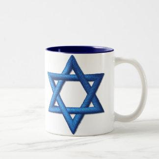 Estrella de David judía Taza De Dos Tonos