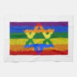 Estrella de David - judío - orgullo gay Toalla De Mano