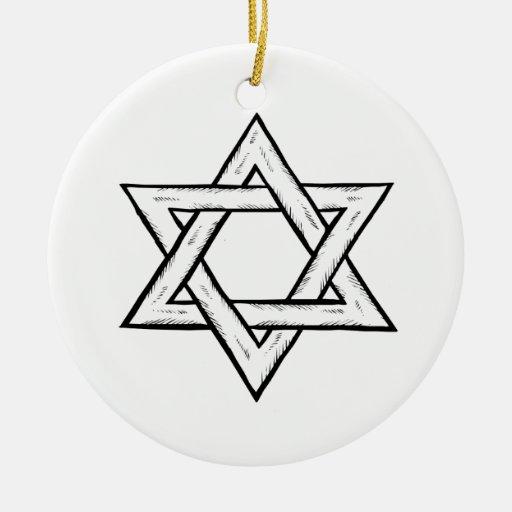 Estrella de David Ornamento De Navidad