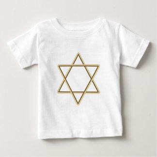 Estrella de David para la barra Mitzvah o el palo Playera De Bebé