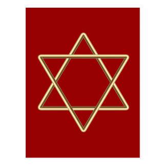 Estrella de David para la barra Mitzvah o el palo Postales