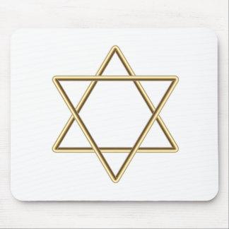 Estrella de David para la barra Mitzvah o el palo  Tapetes De Raton