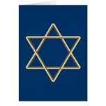 Estrella de David para la barra Mitzvah o el palo  Felicitación