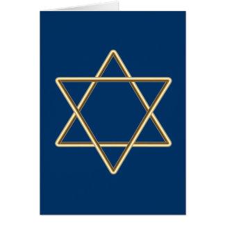 Estrella de David para la barra Mitzvah o el palo  Tarjeta De Felicitación