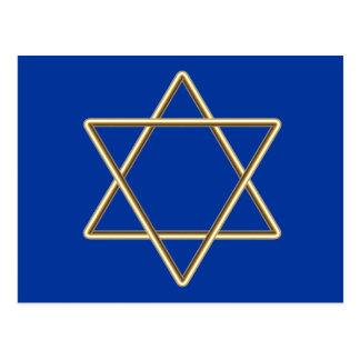 Estrella de David para la barra Mitzvah o el palo Tarjeta Postal